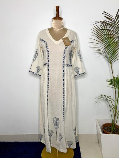 WHITE TUNIC DRESS WITH SIDE GATHERS